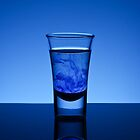 Blue Shot Glass by Mykhaylo Ryechkin