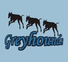 Trio Of Leaping Greyhound Silhouettes Kids Clothes