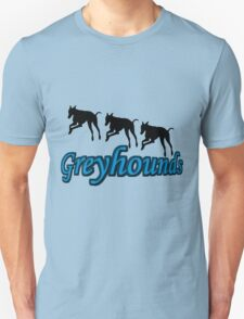 Trio Of Leaping Greyhound Silhouettes T-Shirt
