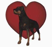 Rottweiler And Red Heart Kids Clothes