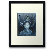 Searching in the Big Blue    Framed Print