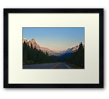 The Most Scenic Road of the World - Icefields Parkway - Alberta Highway 93 north Framed Print