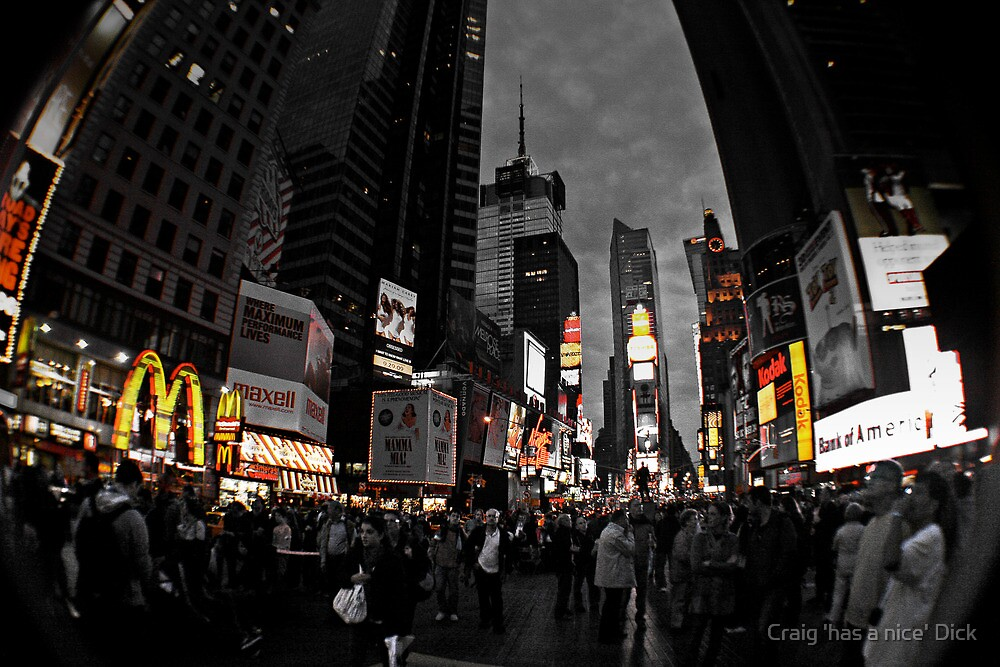 NYC Times Square by Craig 'has a nice' Dick