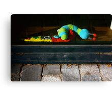 Week ends are sad for Toys with no Child...... Canvas Print