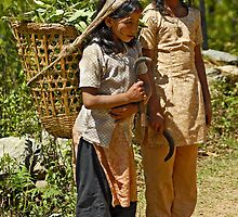 Nepali little workers by Konstantinos Arvanitopoulos