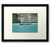 Boat in Thailand Framed Print