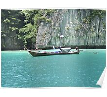 Boat in Thailand Poster