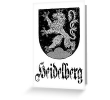 The 3-Tailed Lion of Heidelberg Greeting Card