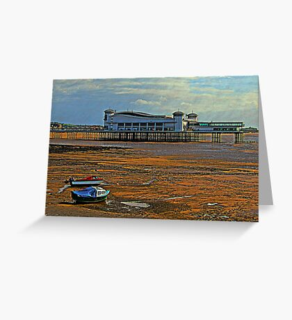 The new Grand Pier Weston-Super-Mare, Somerset, UK Greeting Card