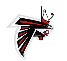 Atlanta Falcons Logo re-imagined  Photographic Print