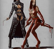 The Twisted Twins as the Blood Sisters by UNFORGIVABLE