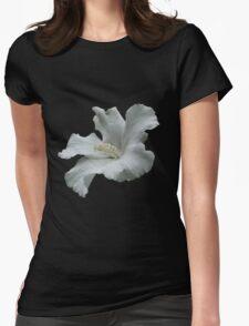 White Hibiscus Flower T-Shirt