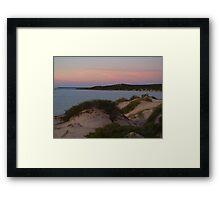 Monkey Mia Western Australia, Sunrise over the Dunes Framed Print