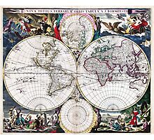 Bormeester Map of the World Photographic Print