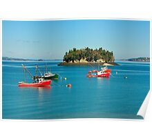 Boats, Harbor, Lubec, Maine Poster