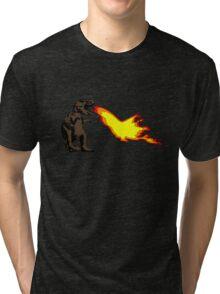 Dinosaur - Brown Tri-blend T-Shirt