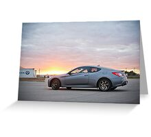 Genesis Coupe at Sunset Greeting Card