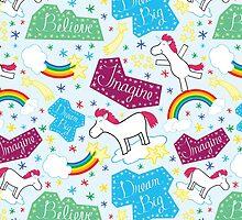 Happy Unicorn - Believe, Imagine, Dream Big by heatherwallace