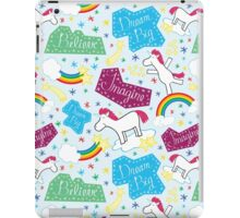 Happy Unicorn - Believe, Imagine, Dream Big iPad Case/Skin
