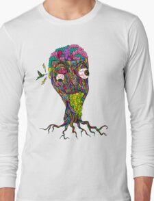 Nicotine Color Long Sleeve T-Shirt