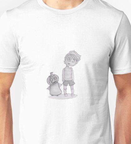 button boy and pumpkin kid Unisex T-Shirt