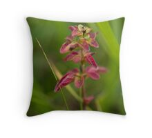 Red Leaf Like Bloom Throw Pillow