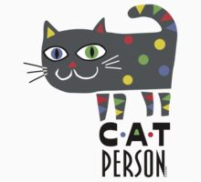 Cat Person Kids Tee