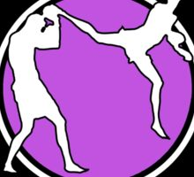 Muay Thai Kickboxing Competition Ready Purple  Sticker