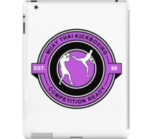 Muay Thai Kickboxing Competition Ready Purple  iPad Case/Skin