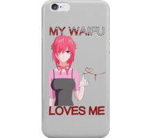 elfen lied lucy my waifu loves me anime manga shirt iPhone Case/Skin