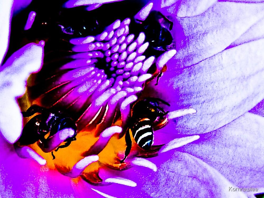 Bees painting...Oh wondering; is it Macro bee..eee..ee?:) Got 5 Featured Works by Kornrawiee