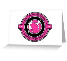 Muay Thai Kickboxing Competition Ready Pink  Greeting Card