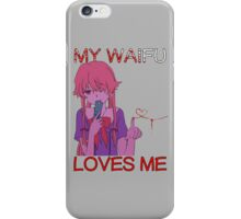 future diary mirai nikki yuno gasai my waifu loves me anime manga shirt iPhone Case/Skin
