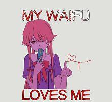 future diary mirai nikki yuno gasai my waifu loves me anime manga shirt Unisex T-Shirt