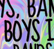 Boys, Bands & Boys in Bands sticker Tumblr inspired Sticker