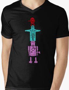 Robot Totem - Color Invert Mens V-Neck T-Shirt