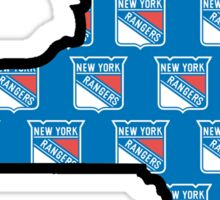 New York Rangers - NY State Logo 2 Sticker