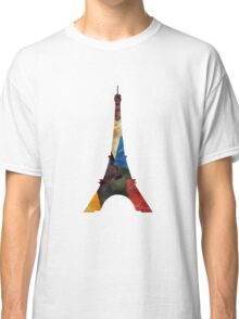 Eiffel Scraps - Eiffel Tower ScrapBook Classic T-Shirt