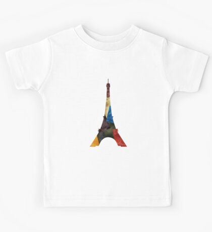 Eiffel Scraps - Eiffel Tower ScrapBook Kids Tee