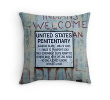 Indians Welcome Throw Pillow