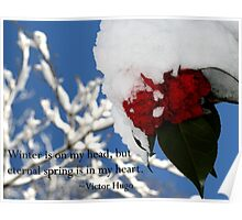 Nature Series/Snow Camellia Poster