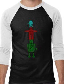 Robot Totem - Color Men's Baseball ¾ T-Shirt
