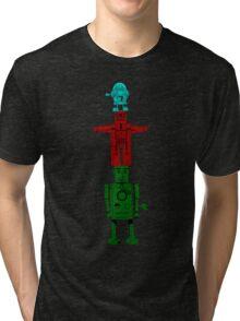 Robot Totem - Color Tri-blend T-Shirt