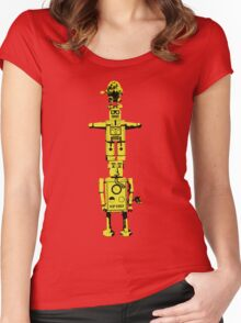 Robot Totem - BiLevel Yellow Women's Fitted Scoop T-Shirt