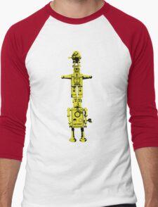 Robot Totem - BiLevel Yellow Men's Baseball ¾ T-Shirt