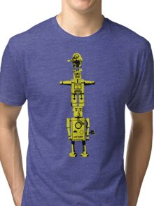 Robot Totem - BiLevel Yellow Tri-blend T-Shirt