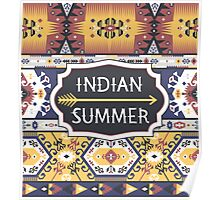 Bright pattern in tribal style Poster