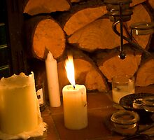 Candle Lit Fireplace by Wealie