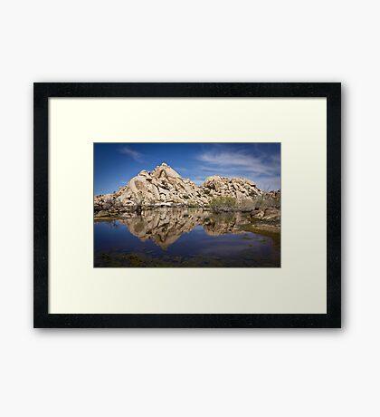 Rock Reflections, Barker Dam Framed Print