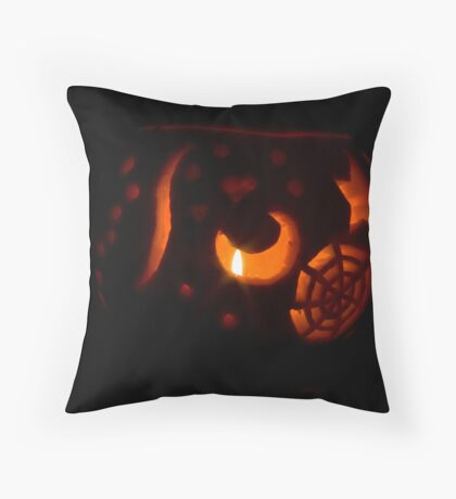 Carved Pumpkin Throw Pillow